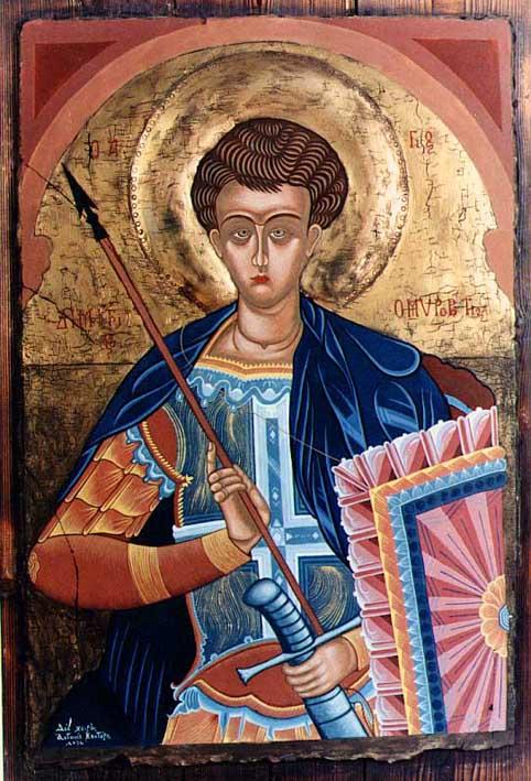 Άγιος Δημήτριος ο Μυροβλύτης - Οχρίδα 14ος αι. - Τέμπερα σε ξύλο