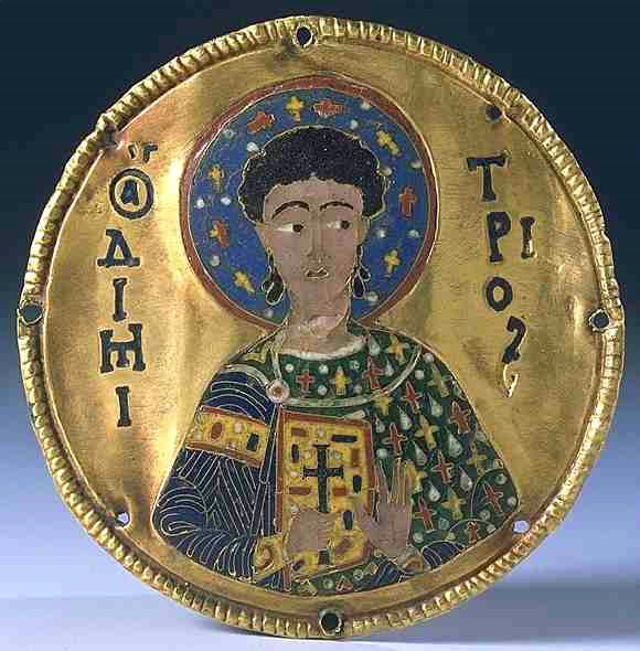 Άγιος Δημήτριος ο Μυροβλύτης - Κόσμημα του 12ου αι. μ.Χ. Μουσείο του Λούβρου, Παρίσι