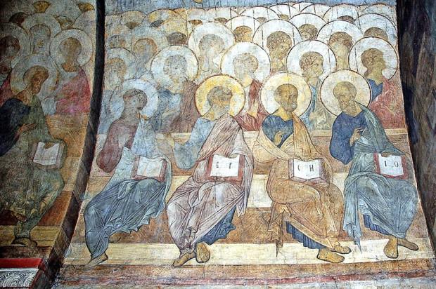Ένα μεγάλο μέρος των τοιχογραφιών του 1408 στον Καθεδρικό Ναό Κοιμήσεως του Βλαντίμιρ, είναι στιγμιότυπα από την Ημέρα της Κρίσης! Οι διατηρημένες τοιχογραφίες αποτελούν κομμάτι της μεγαλοπρεπούς σύνθεσης που καταλαμβάνει το δυτικό τοίχο του καθεδρικού ναού. Η συναισθηματική διάθεση της σκηνής στην Ημέρα της Κρίσης είναι ασυνήθιστη δεδομένου ότι, δεν υπάρχει καμία αίσθηση τρόμου ενόψει της τρομερής τιμωρίας, αλλά μάλλον η ιδέα της συγχώρεσης και μια φωτισμένη διάθεση θριάμβου. / Η Ημέρα της Κρίσης, 1408.