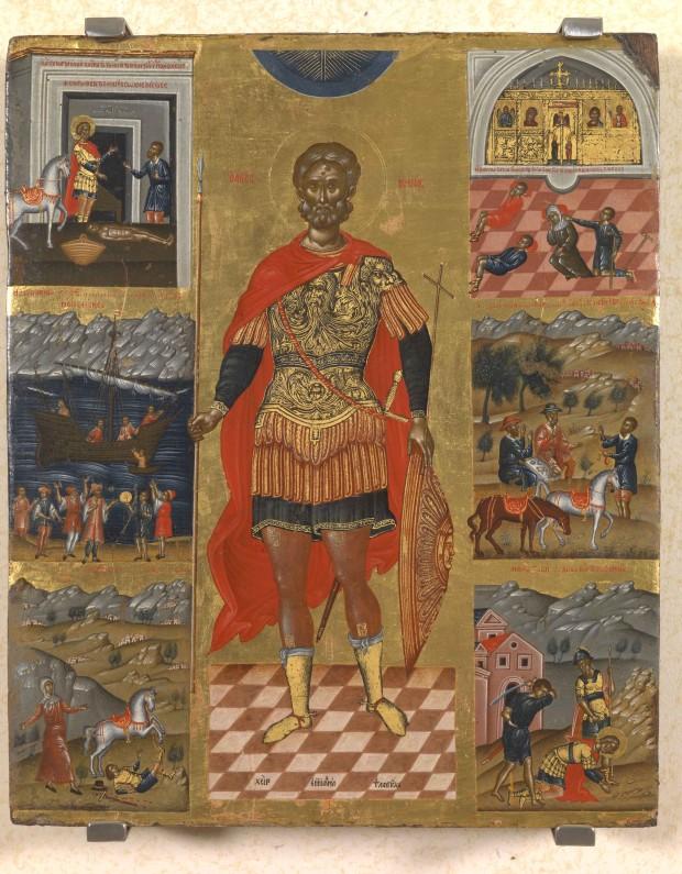 Άγιος Μηνάς «ὁ ἐν τῷ Κοτυαείῳ» ο Μεγαλομάρτυρας - Εμμανουήλ Λαμπάρδος, αρχές 17ου αιώνα μ.Χ