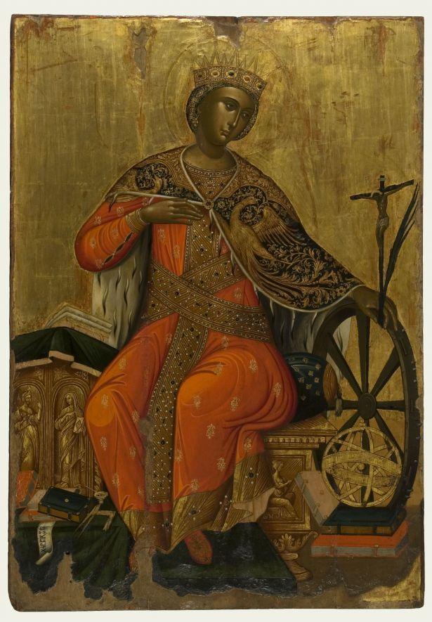 Αγία Αικατερίνη - Βίκτωρ - Β΄ μισό 17ου αιώνα μ.Χ. Από τη Messina - Αθήνα, Βυζαντινό και Χριστιανικό Μουσείο