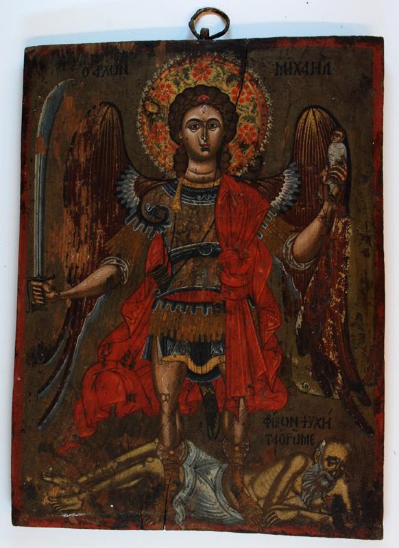Αρχάγγελος Μιχαήλ - Φορητή εικόνα του 17ου, αρχές του 18ου αιώνα μ.Χ. από το τέμπλο της εκκλησίας του μετοχίου Μονής «Κλοπεδή»