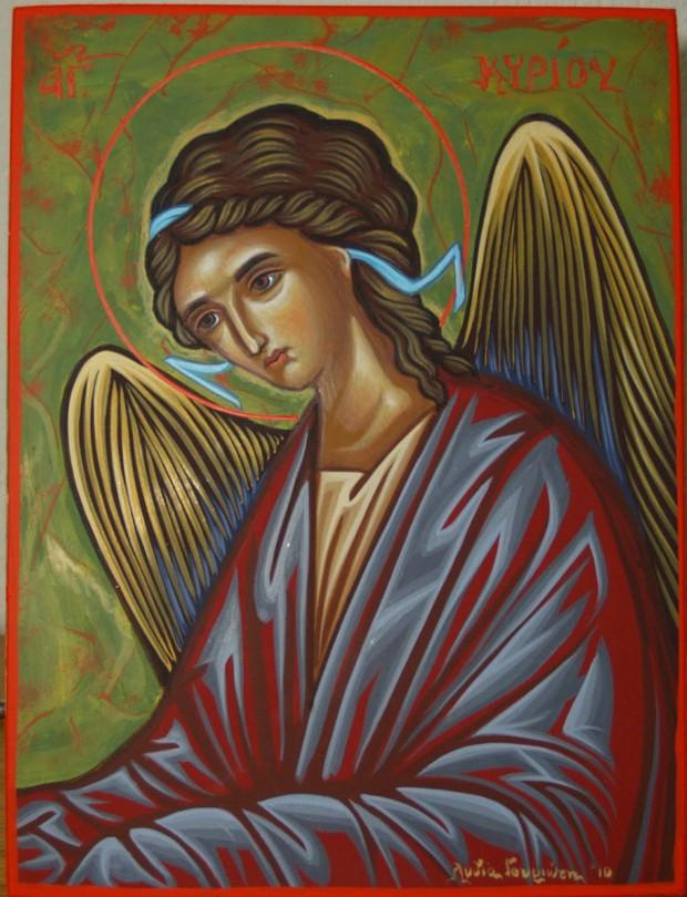 Άγγελος Κυρίου - Λυδία Γουριώτη© (lydiagourioti-iconography.blogspot.com)