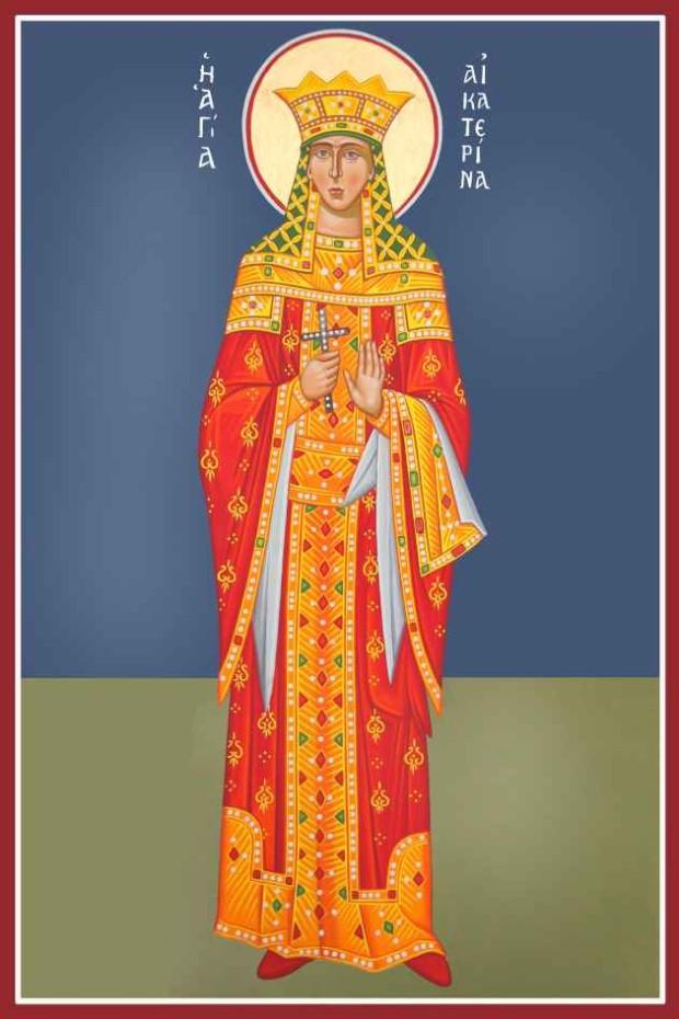 Αγία Αικατερίνη - Καζακίδου Μαρία© (byzantineartkazakidou. blogspot.com)