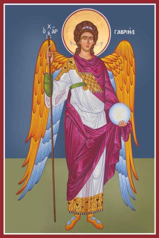 Αρχάγγελος Γαβριήλ - Καζακίδου Μαρία© (byzantineartkazakidou. blogspot.com)