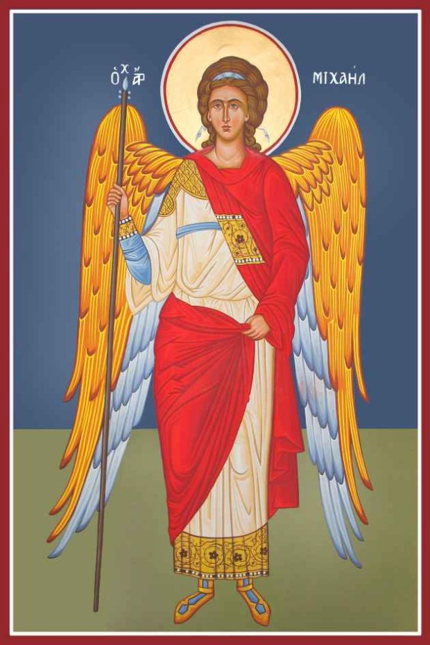Αρχάγγελος Μιχαήλ - Καζακίδου Μαρία© (byzantineartkazakidou. blogspot.com)