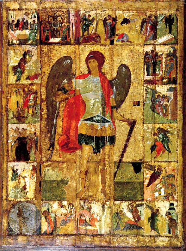 Αρχάγγελος Μιχαήλ - Ρωσική εικόνα του 1400 μ.Χ.