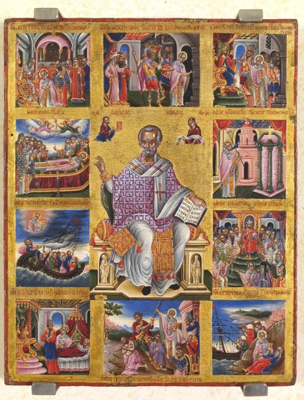 Άγιος Νικόλαος Αρχιεπίσκοπος Μύρων της Λυκίας - Θεόδωρος Πουλάκης (;), δεύτερο μισό του 17ου αιώνα μ.Χ.