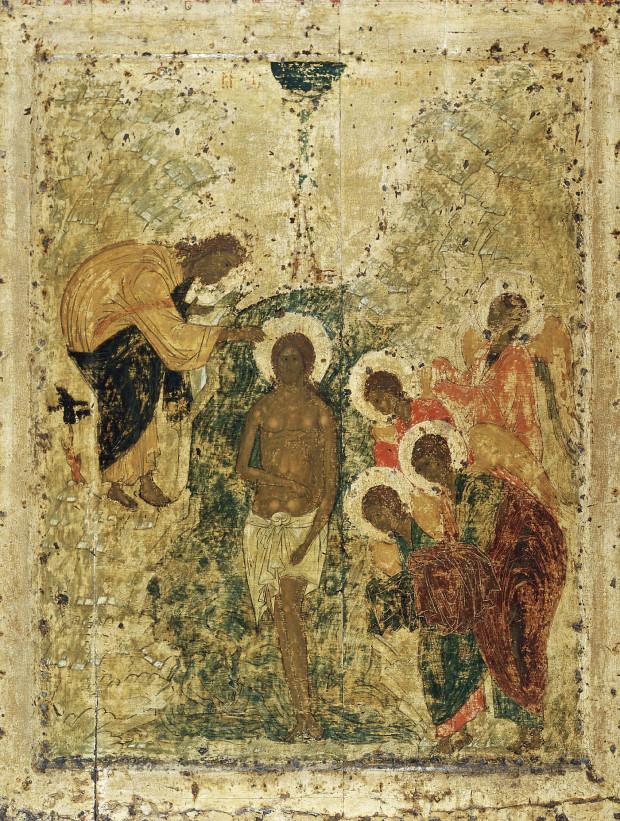 Αντρέι Ρουμπλιόβ - Η Βάπτιση, Ναός του Ευαγγελισμού, 1405