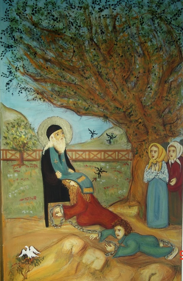 Ο Άγιος εκδιώκει τα δαιμόνια