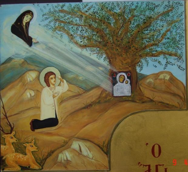 Η εύρεση ης ιεράς Εικόνος της Παναγίας της Υψενής