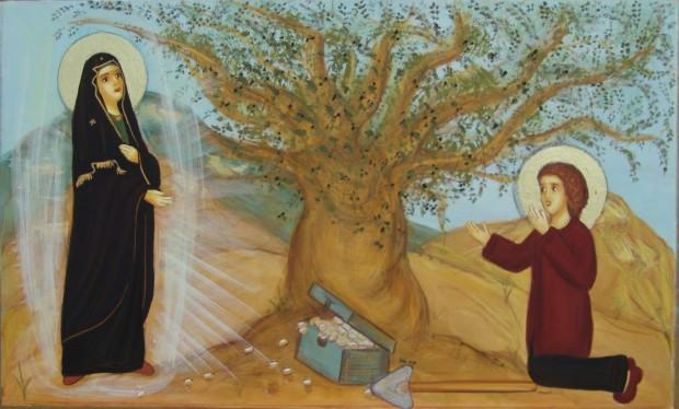 Η Παναγία του υποδεικνύει το τόπο που θα βρεί τους αναγκαίους πόρους για να χτιστεί ο ναός