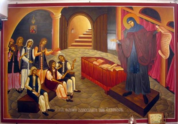 Η Αγία Φιλοθέη διδάσκει τις Ελληνίδες