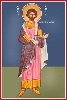 Άγιος Ηλιάδης (ή Ηλίας) - Καζακίδου Μαρία© (byzantineartkazakidou. blogspot.com)