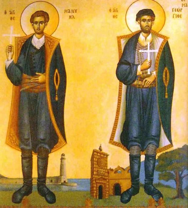 Οι Άγιοι 4 Μάρτυρες οι εν Κρήτη-Γεώργιος, Μανουήλ