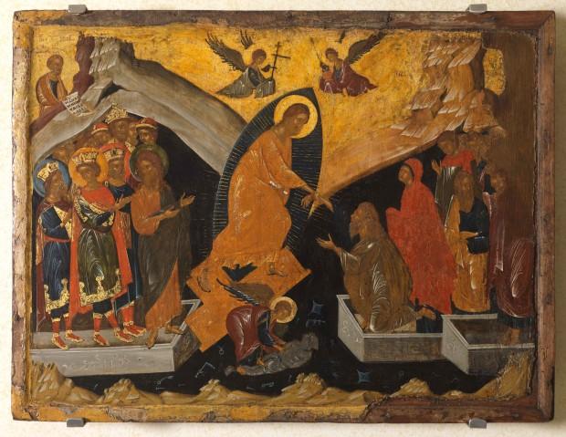 Η Εις Άδου Κάθοδος - άγνωστος ζωγράφος από την Κωνσταντινούπολη, τέλη 14ου αιώνα μ.Χ.