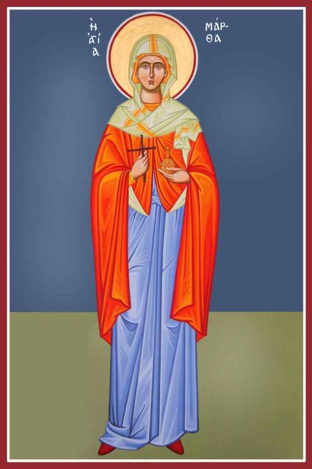 Αγία Μάρθα αδελφή του Λαζάρου - Καζακίδου Μαρία© (byzantineartkazakidou. blogspot.com)
