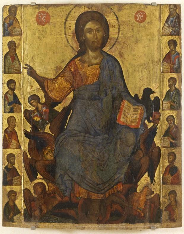 Ο Χριστός εν δόξη και οι δώδεκα Απόστολοι - άγνωστος ζωγράφος από την Κωνσταντινούπολη, μέσα 14ου αιώνα μ.Χ.