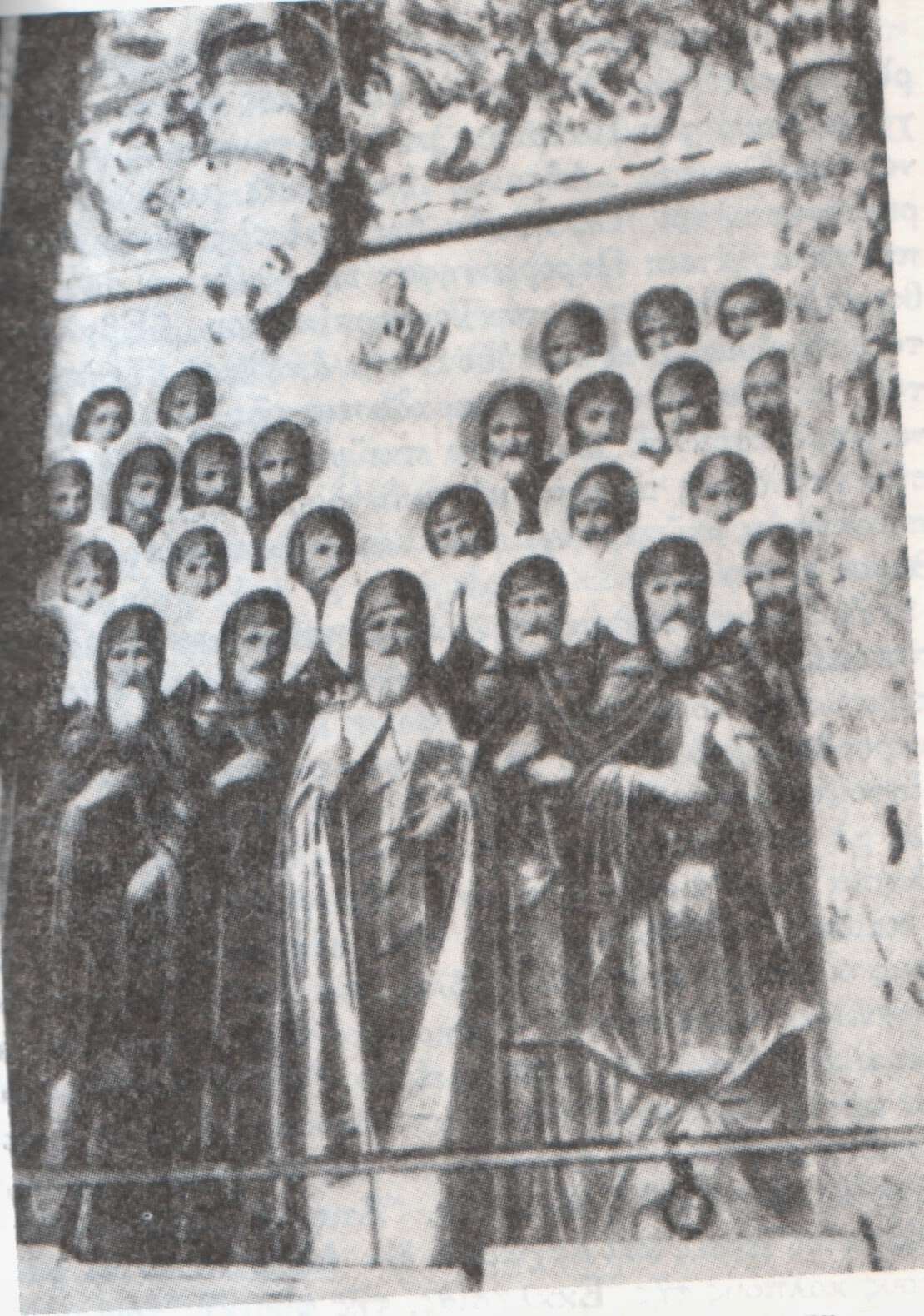 26 Aγιορείτες μάρτυρες ανθενωτικοί μοναχοί της Ιεράς Μονής Ζωγράφου - κατεκάησαν ζωντανοί στον πύργο της Μονής την 10η Οκτωβρίου 1276, υπό  των λατινοφρόνων Μιχαήλ Η΄ Παλαιολόγου και Ιωάννη Βέκκου,