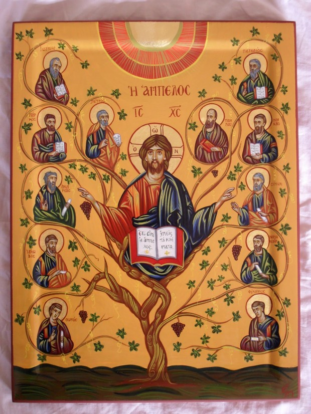 Οι Άγιοι Δώδεκα Απόστολοι - Χρωστήρας© (xrostiras.blogspot.com)