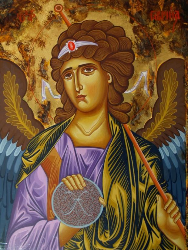 Αρχάγγελος Γαβριήλ - Λυδία Γουριώτη© (http://lydiagourioti-iconography.blogspot.com)