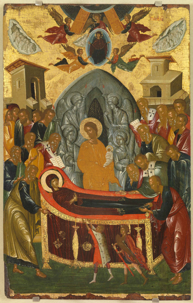 Κοίμηση της Θεοτόκου - άγνωστος ζωγράφος κρητικού εργαστηρίου, δεύτερο μισό 15ου αιώνα μ.Χ.