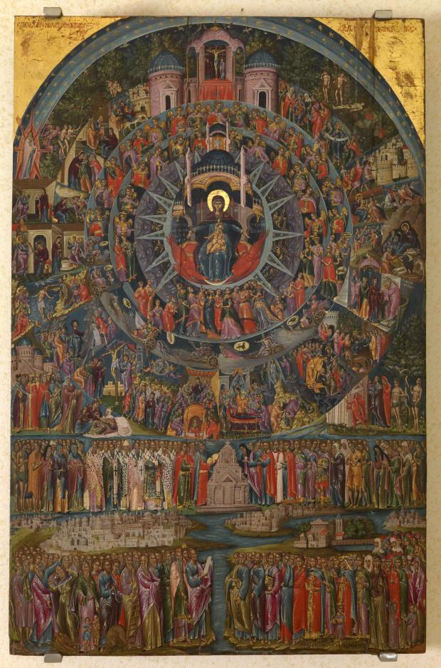 Εικονογράφηση του ύμνου «Επί Σοι Χαίρει», τέλη 16ου αιώνα μ.Χ., Γεώργιος Κλόντζας