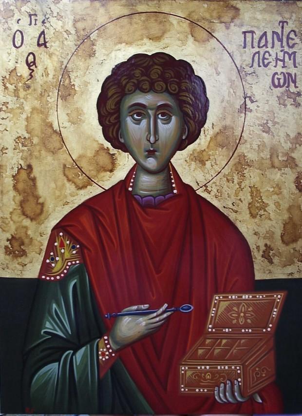 Άγιος Παντελεήμων ο Μεγαλομάρτυς και Ιαματικός - Χρωστήρας© (xrostiras.blogspot.com)