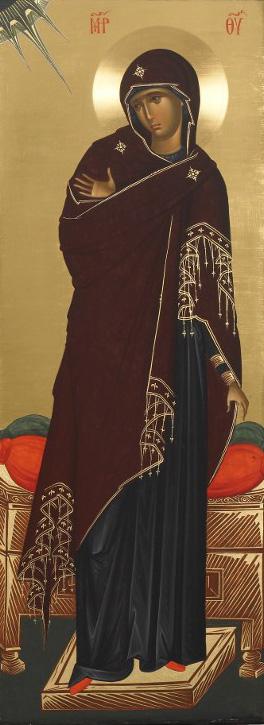 Η Υπεραγία Θεοτόκος - Εικόνα από το Aγιογραφείο της Μονής Βατοπαιδίου