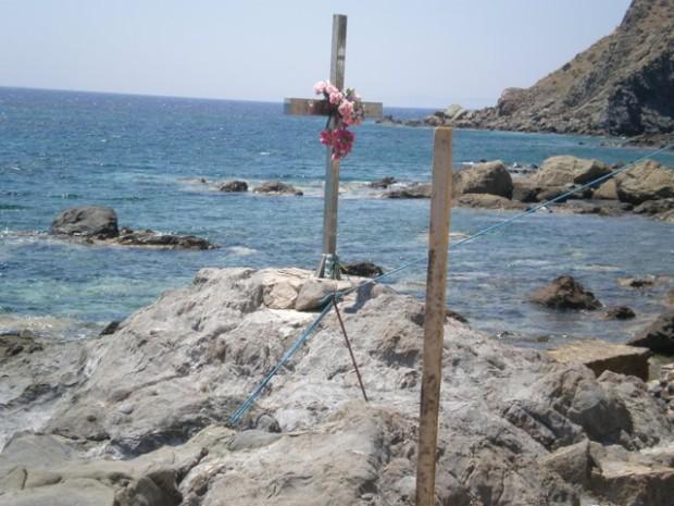 Αγία Μαρκέλλα.Ο βράχος του μαρτυρίου στη Χίο.
