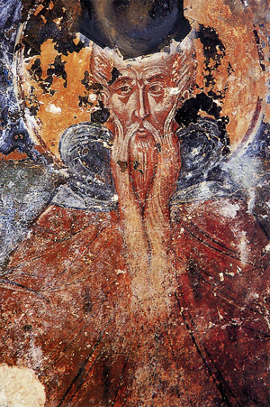 Όσιος Θεοδόσιος ο νέος, ο ιαματικός - Τοιχογραφία