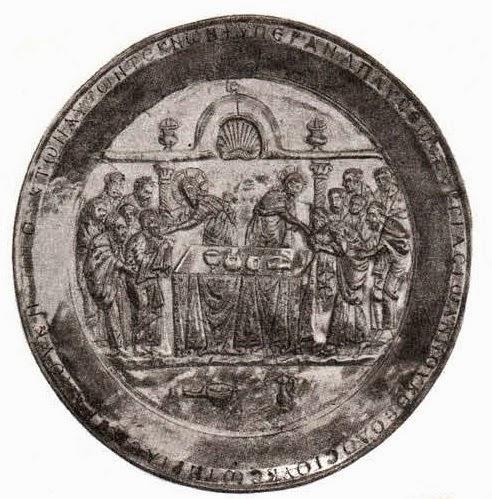 Θεία Ευχαριστία. Ο αργυρός δίσκος του Riha.  Kωνσταντινούπολη 565-578. Συλλογή Dumbarton Oaks