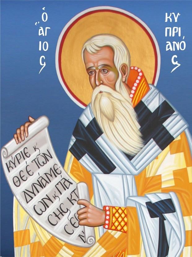 Άγιος Κυπριανός - Καζακίδου Μαρία© (byzantineartkazakidou. blogspot.com)