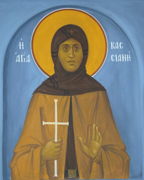 Οσία Κασσιανή - Ι. Ν. Οσίων Παρθενίου και Ευμενίου των εν Κουδουμά, δια χειρός Παναγιώτη Μόσχου (2006 μ.Χ.)