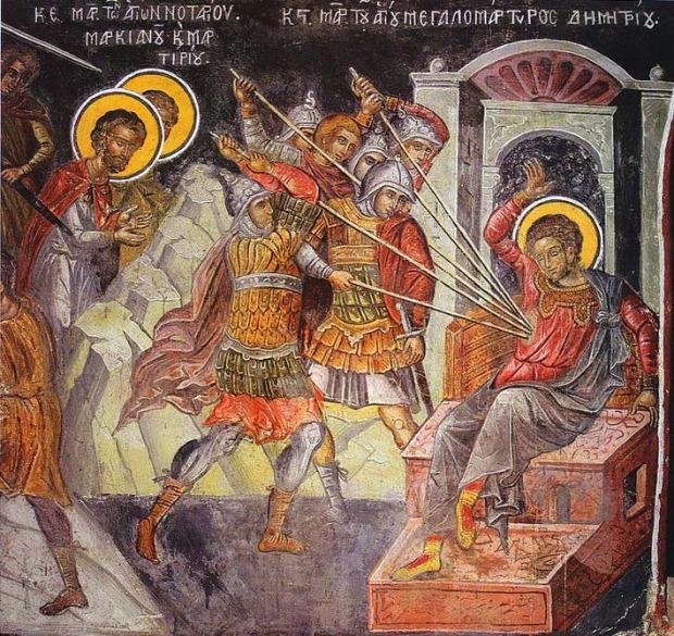 Άγιος Δημήτριος ο Μυροβλύτης - Θεοφάνης ο Κρης, Μονή Μεγίστης Λαύρας, 1535 - 1541 μ.Χ.