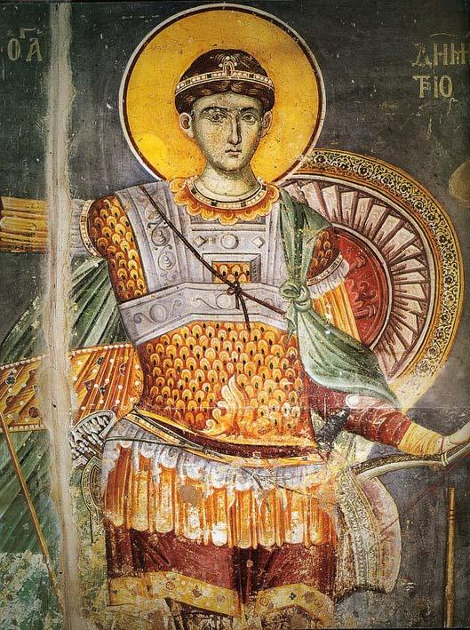 Άγιος Δημήτριος ο Μυροβλύτης - Μανουήλ Πανσέληνος, Πρωτάτο, περίπου 1290 μ.Χ