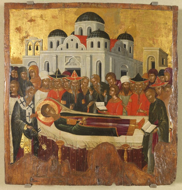 Η Κοίμηση του Αγίου Δημητρίου - άγνωστος ζωγράφος του Χάνδακα, δεύτερο μισό του 15ου αιώνα μ.Χ.