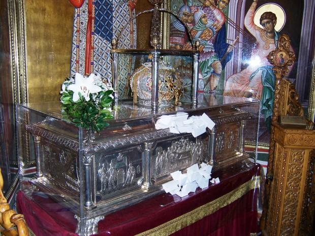 Τα λείψανα του Αγίου Δημητρίου στη Θεσσαλονίκη.
