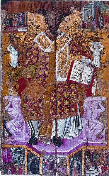 Άγιος Ιωάννης ο Χρυσόστομος και σκηνές του βίου του