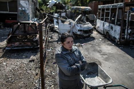 Σήμερα, η κατάσταση είναι τραγική... όλοι έχουν εναποθέσει τις ελπίδες -τουλάχιστον για κατάπαυση του πυρός- στη νεοεκλεγμένη ηγεσία της Λ.Δ.Ντονιέτσκ. Πηγή: Reuters