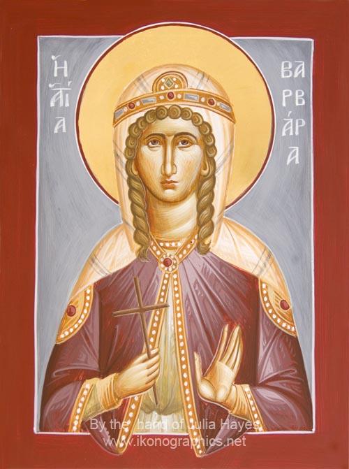 Αγία Βαρβάρα - Julia Hayes© (www.ikonographics.net)
