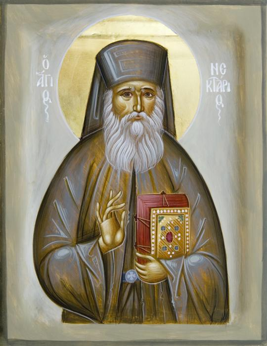 Άγιος Νεκτάριος Μητροπολίτης Πενταπόλεως Αιγύπτου - Julia Hayes© (www.ikonographics.net)
