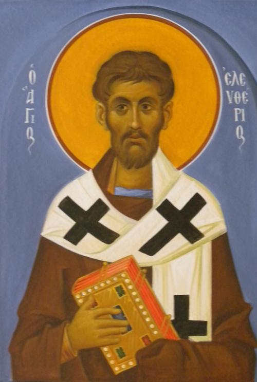 Άγιος Ελευθέριος ο Ιερομάρτυρας - Ι. Ν. Οσίων Παρθενίου και Ευμενίου των εν Κουδουμά, δια χειρός Παναγιώτη Μόσχου (2006 μ.Χ.)