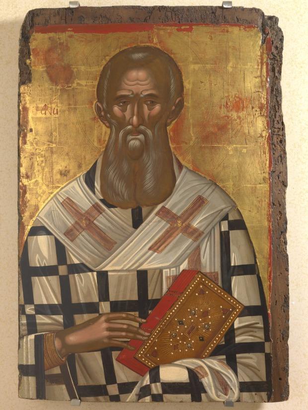 Άγιος Αθανάσιος ο Μέγας - Μιχαήλ Δαμασκηνός, τέλη 16ου αιώνα μ.Χ.