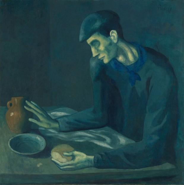 Pablo Picasso:Το γεύμα του τυφλού Φωτο:.pinterest.com