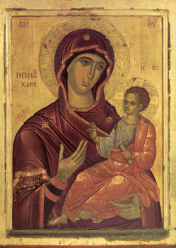 Παναγία η Πάντων Χαρά, Ι.Μ. Παντοκράτορος.- Έργο Θεοφάνους του Κρητός (1530-1540)