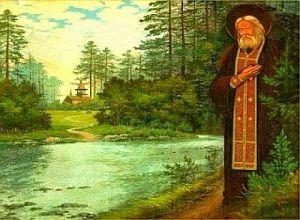 Ό πατήρ Σεραφείμ   όμως μέ έκανε   γιά πρώτη φορά   νά νοιώσω   τόν παντοδύναμο  Κύριο.
