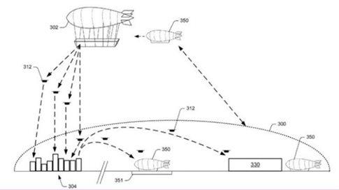 Σκίτσο που συνοδεύει την αίτηση ευρεσιτεχνίας περιγράφει πώς θα λειτουργούσε η ιδέα (Πηγή: US Patent Office)