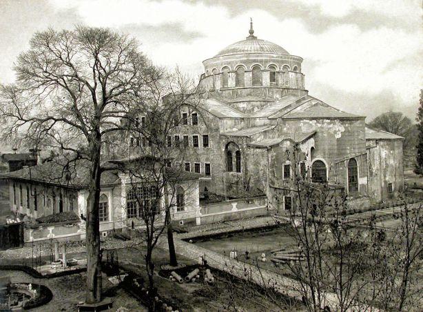 Ιερός Ναός Αγίας Ειρήνης, ανατολική πλευρά, Κωνσταντινούπολη (Από τη Βιβλιοθήκη ΑΠΘ)